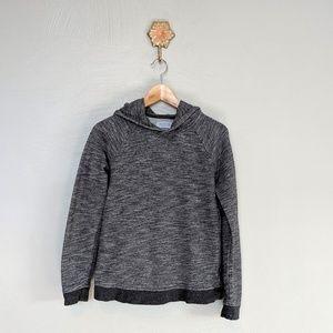 Everlane charcoal hooded sweatshirt.